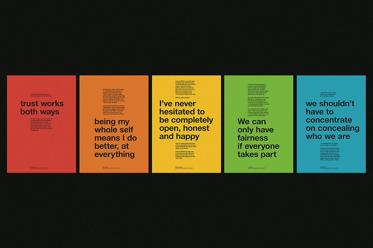 Posters showing quotes by LGBT+ people